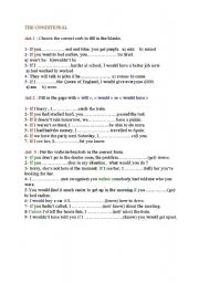 English Worksheet: conditionals with