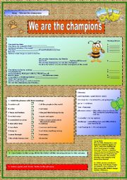 English Worksheets: Queen - We are the champions