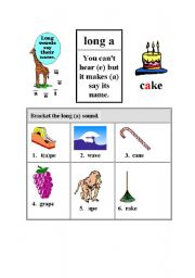 English Worksheets: LONG A SOUND