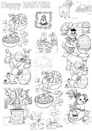 English Worksheets: Easter colouring