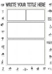 English worksheet: ALPHABET TEMPLATE