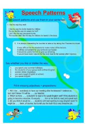 English Worksheets: Speech Patterns