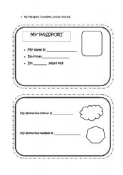My passport esl worksheet by nuriarich for Printable passport template for kids