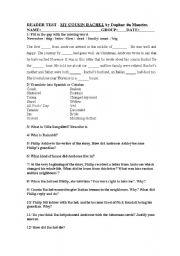 English Worksheets: MY COUSIN RACHEL