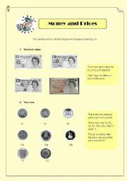 English Worksheet: Money & Prices: functional language