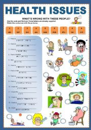 Health Problems What S Wrong With These People Esl Worksheet By