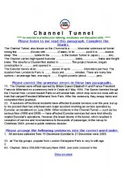 English Worksheets: Channel Tunnel