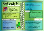 English Worksheet: Adverb or adjective?