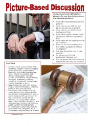 English Worksheet: Picture-Based Discussion (33): Crime and Justice
