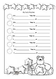 Printables Daily Schedule Worksheet english teaching worksheets daily routines my routine