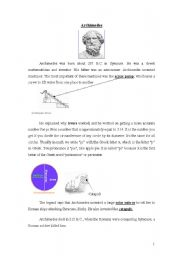 English Worksheets: Archimedes 1