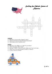 English Worksheet: Surfing the USA