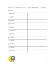 English Worksheets: Root words