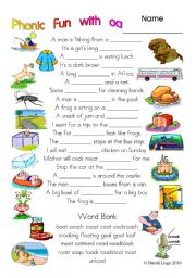 English Worksheets: 3 pages of Phonic Fun with oa: worksheet, story and key (#15)