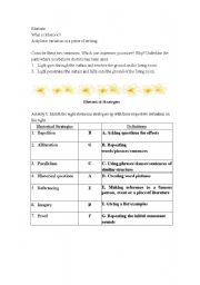 English Worksheets: Rhetoric Stratgies
