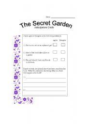 English teaching worksheets: The Secret Garden