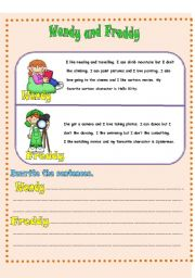 English worksheet: Lýkes and Dislikes
