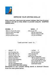 English Worksheets: IMPROVE YOUR WRITING SKILLS