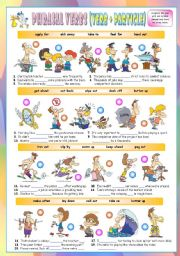 Phrasal Verbs (Eleventh series). Exercises (Part 2/3). Key included!!!
