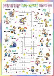 English Worksheets: Phrasal Verbs (Eleventh series). Crossword (Part 3/3)