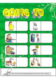 English Worksheet: Going To (Predictions)
