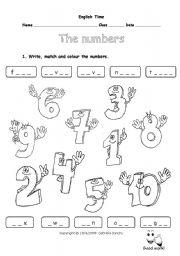 numbers 1-10 - ESL worksheet by marstar