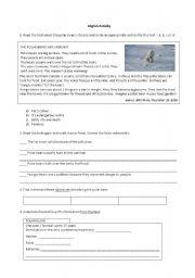 English Worksheet: Animals - Polar bear
