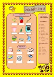 English Worksheets: let�s bake bread