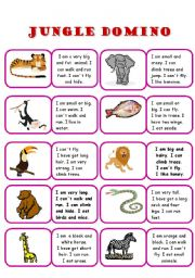 English Worksheet: Domino - jungle animals