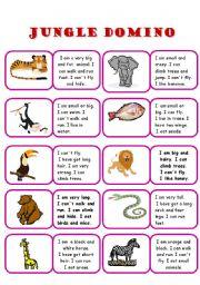 English Worksheet: Domino - jungle animals