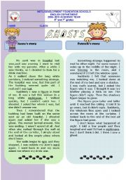 English Worksheet: ghost stories