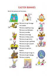 English Worksheet: EASTER BUNNIES
