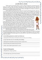English Worksheets: A Native Person´s Situation