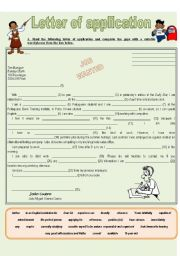 LETTER OF APPLICATION