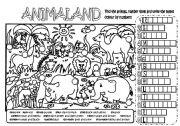 English Worksheet: ANIMALAND