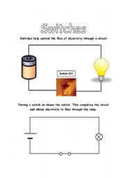 English Worksheets: Electrical Circuits - Switches