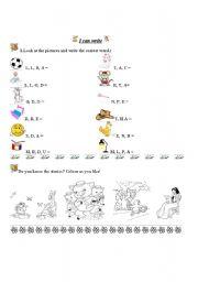 English Worksheets: beginning writing
