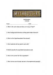mythbusters scientific method worksheet
