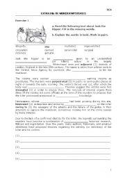 English Worksheet: Murder Mysteries