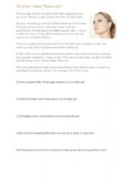 English Worksheets: Women need make up