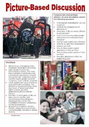 English Worksheet: Picture-Based Discussion (34): Globalization