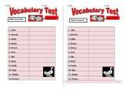 English Worksheets: PLURAL OF NOUNS TEST