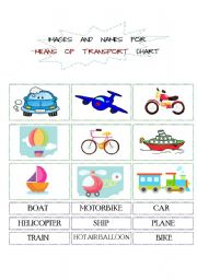 English Worksheet: Means of Transport Vehicles