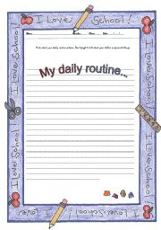 Essay daily routine