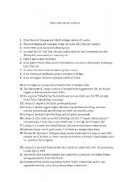 English Worksheet: funny facts about Liverpool