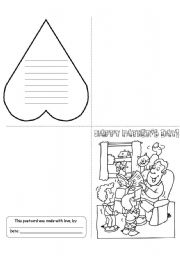 English Worksheet: Father´s Day Card (1/3)
