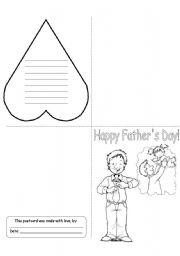 English Worksheet: Father´s Day Card (3/3)