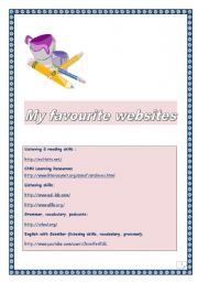 English Worksheets: My favourite websites (For LAB CLASSES)