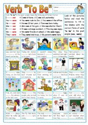 English Worksheet: Verb To Be (Past Form)