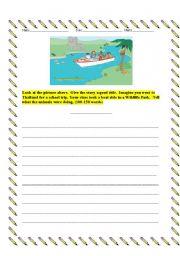 English Worksheets: Writing-My Wild Trip